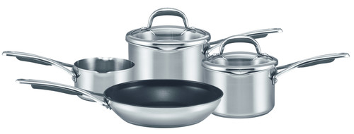 Meyer Select 4 Piece Classic Stainless Steel Cookware Pan Set