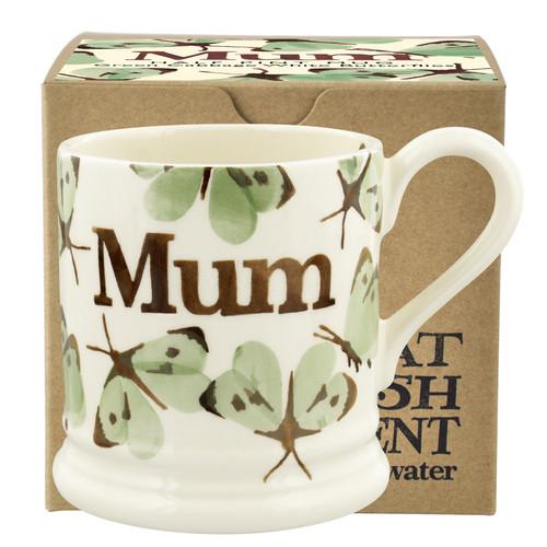 Emma Bridgewater Green Cabbage White Butterfly Mum 1/2 Pint Mug Boxed