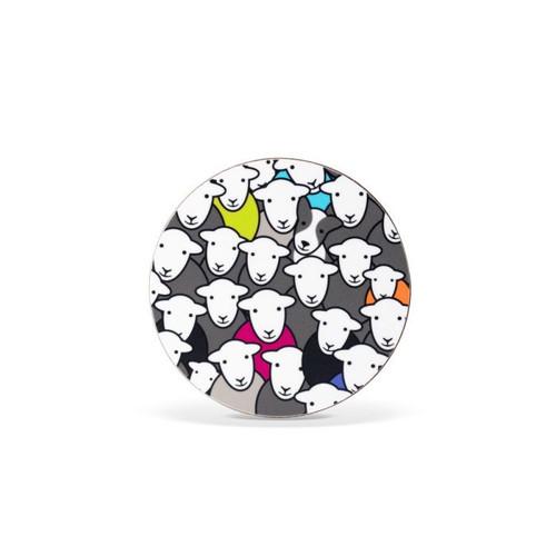 Herdy Melamine Coaster - Flock
