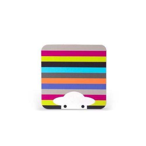 Herdy Melamine Coaster - Stripe