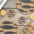 Liga Fish Grey Printed Cork Coasters Set of 4