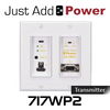 JAP 717WP2 Ultra HD Gigabit 3G+ PoE Wall Plate Transmitter With HDCP2.2