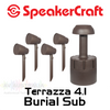 """SpeakerCraft 4"""" All-Weather Outdoor Speaker Kit with 8"""" Burial Subwoofer"""