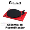 Pro-Ject Essential III RecordMaster Turntable Inc. Ortofon OM10 Cartridge