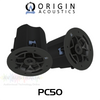 "Origin Acoustics Commercial PC50 5.25"" 70/100V In-Ceiling Speakers (Pair)"