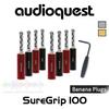 AudioQuest SureGrip 100 BFA/Banana Plugs (Set of 8/12)