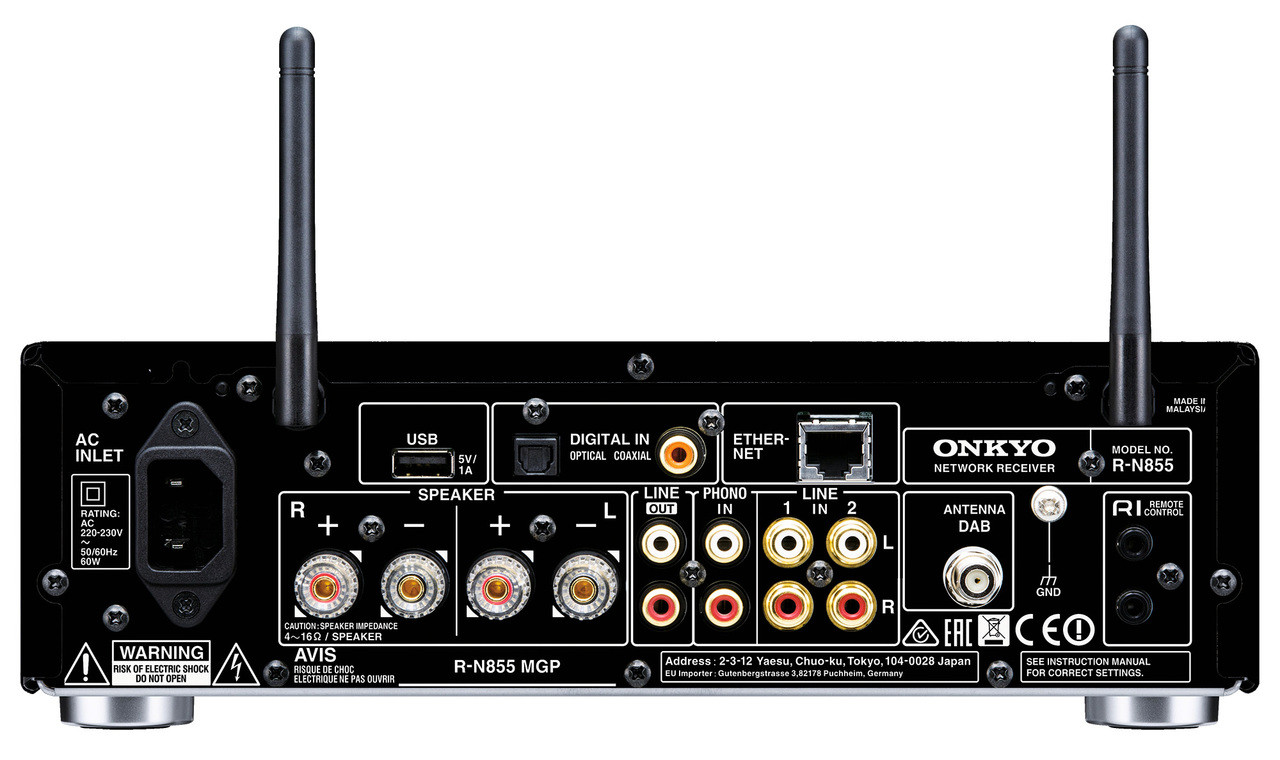 Onkyo R-N855 Network Stereo Receiver