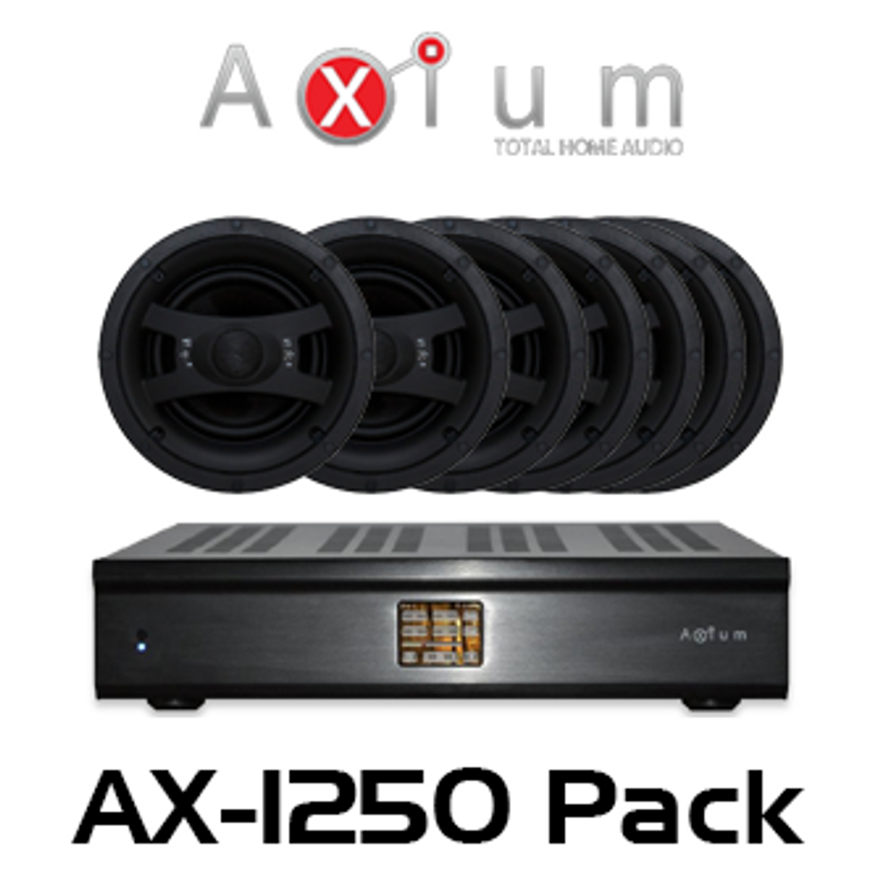 Axium AX-1250 Multi-Zone Amplifier with Edgeless In-Ceiling Package