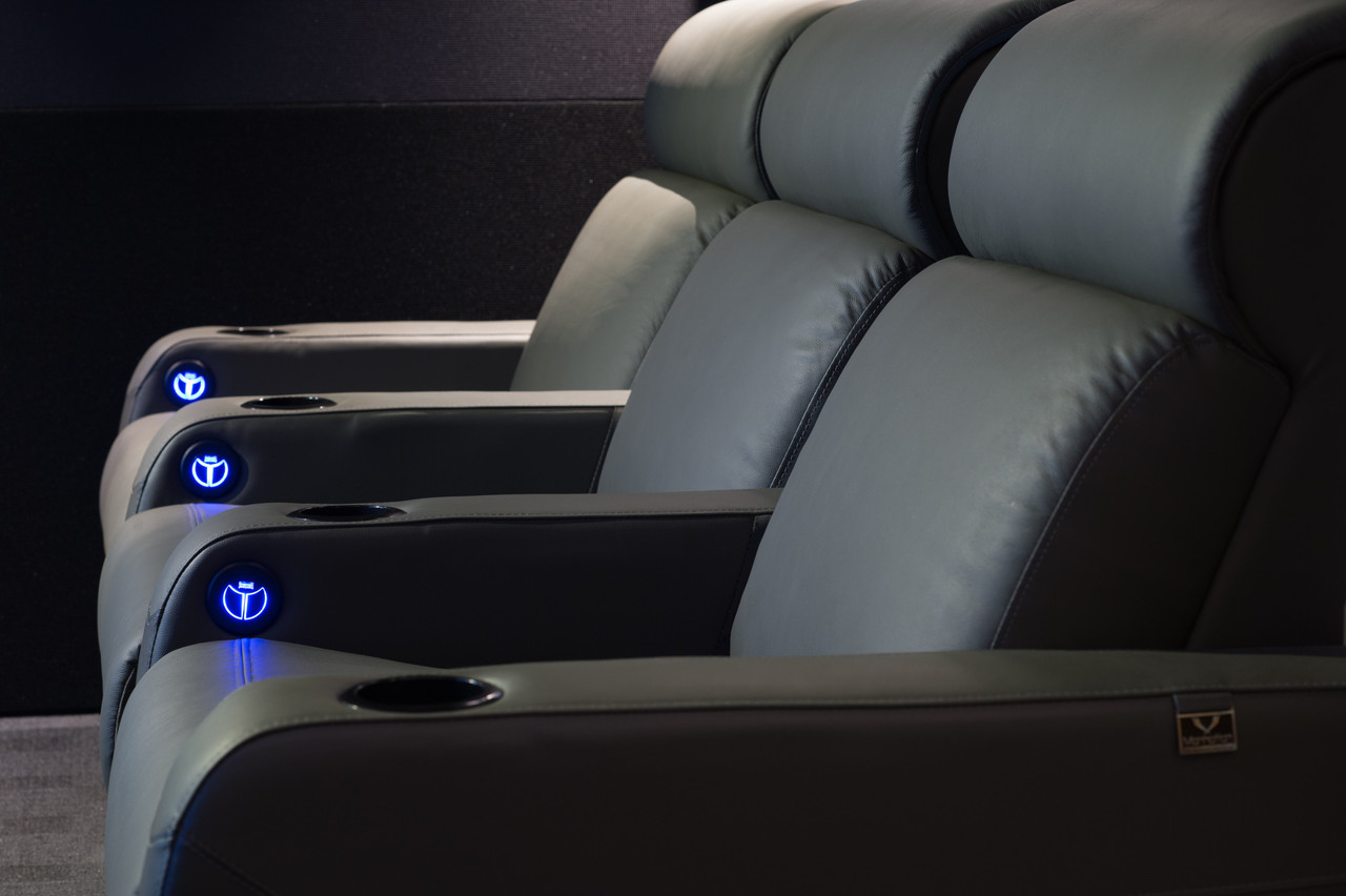 Manhattan New Yorker Pro Leather / Suede Finish Cinema Seating