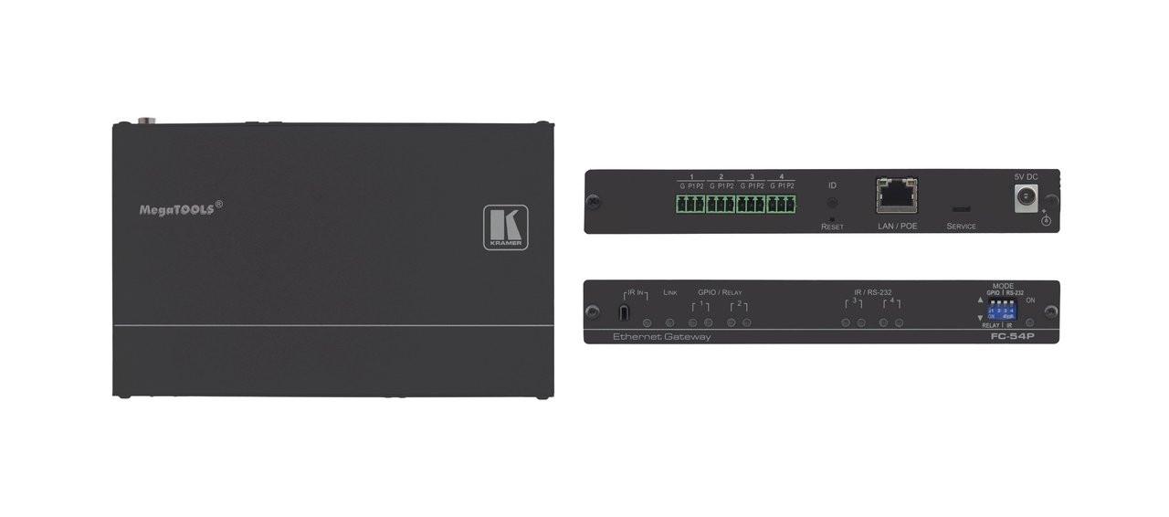 Kramer FC-54P 4-Port Multi-Function PoE Control Gateway