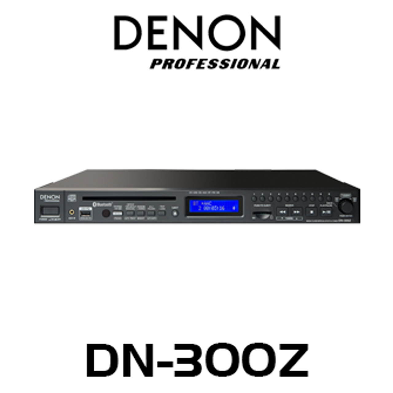 Denon Pro DN300Z 1U CD/Bluetooth/Media Player with AM/FM Tuner