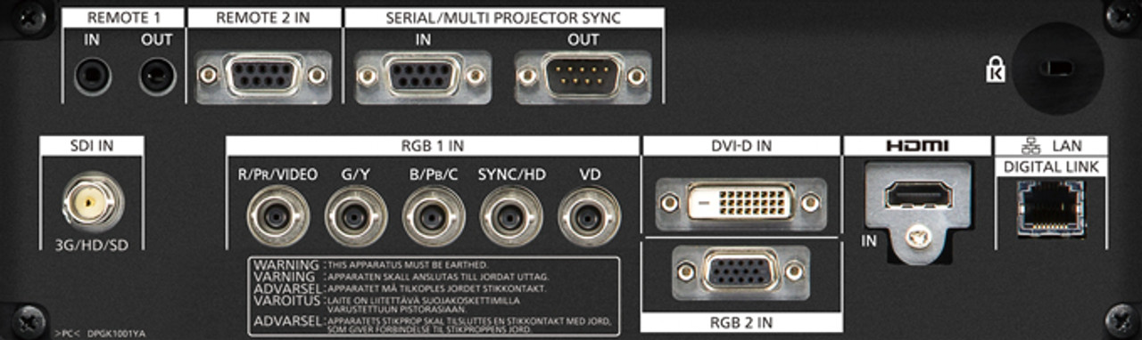 Panasonic PT-RZ870BE WUXGA 8,500 Lumens Digital Link Laser 1-Chip