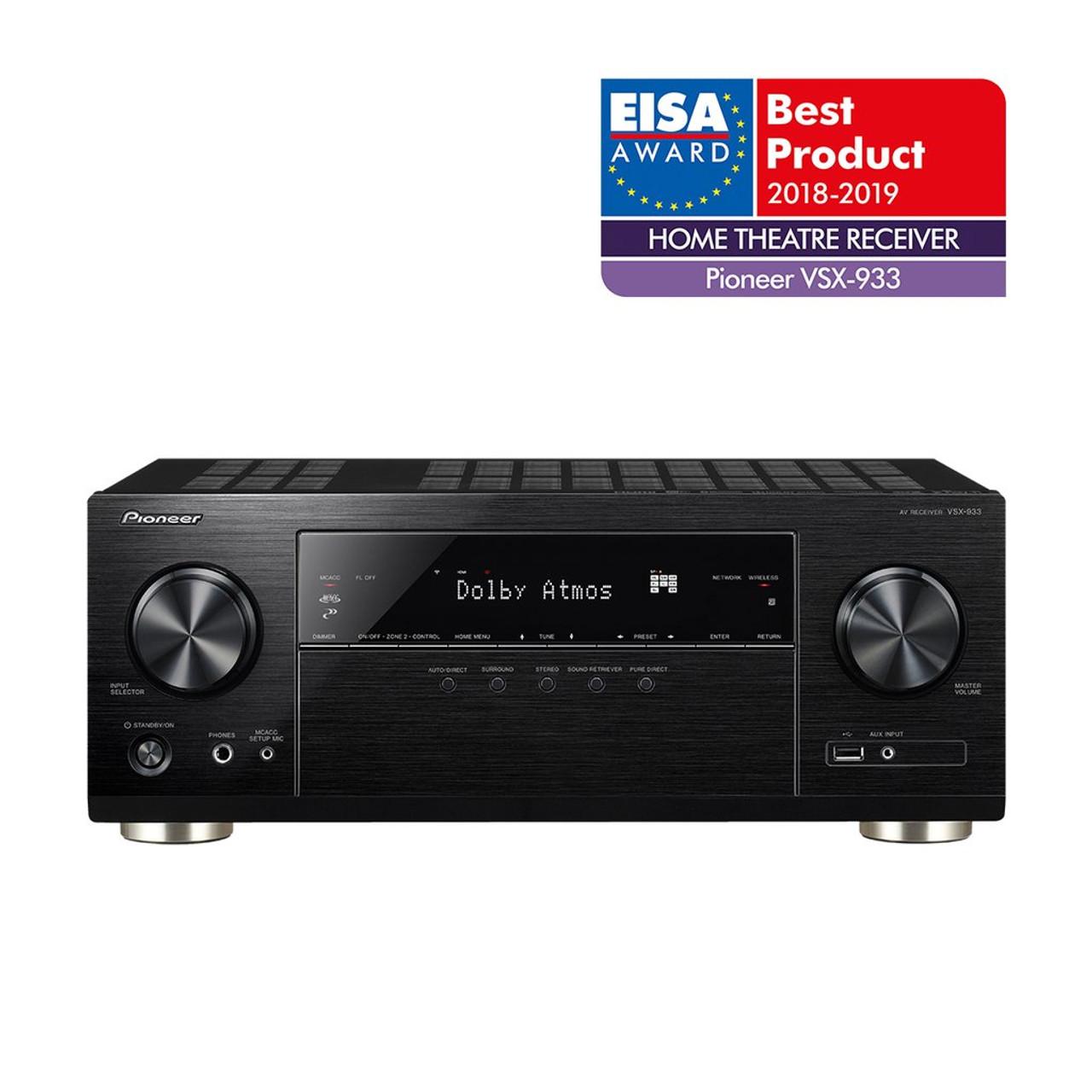 Pioneer VSX-933 7.2CH 4K UHD HDR Dolby Atmos AV Receiver