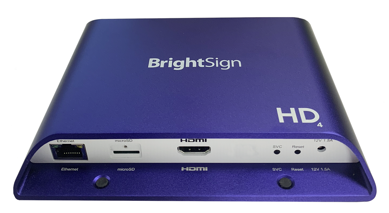 BrightSign HD224 Standard I/O 4K Interactive Digital Signage Media Player