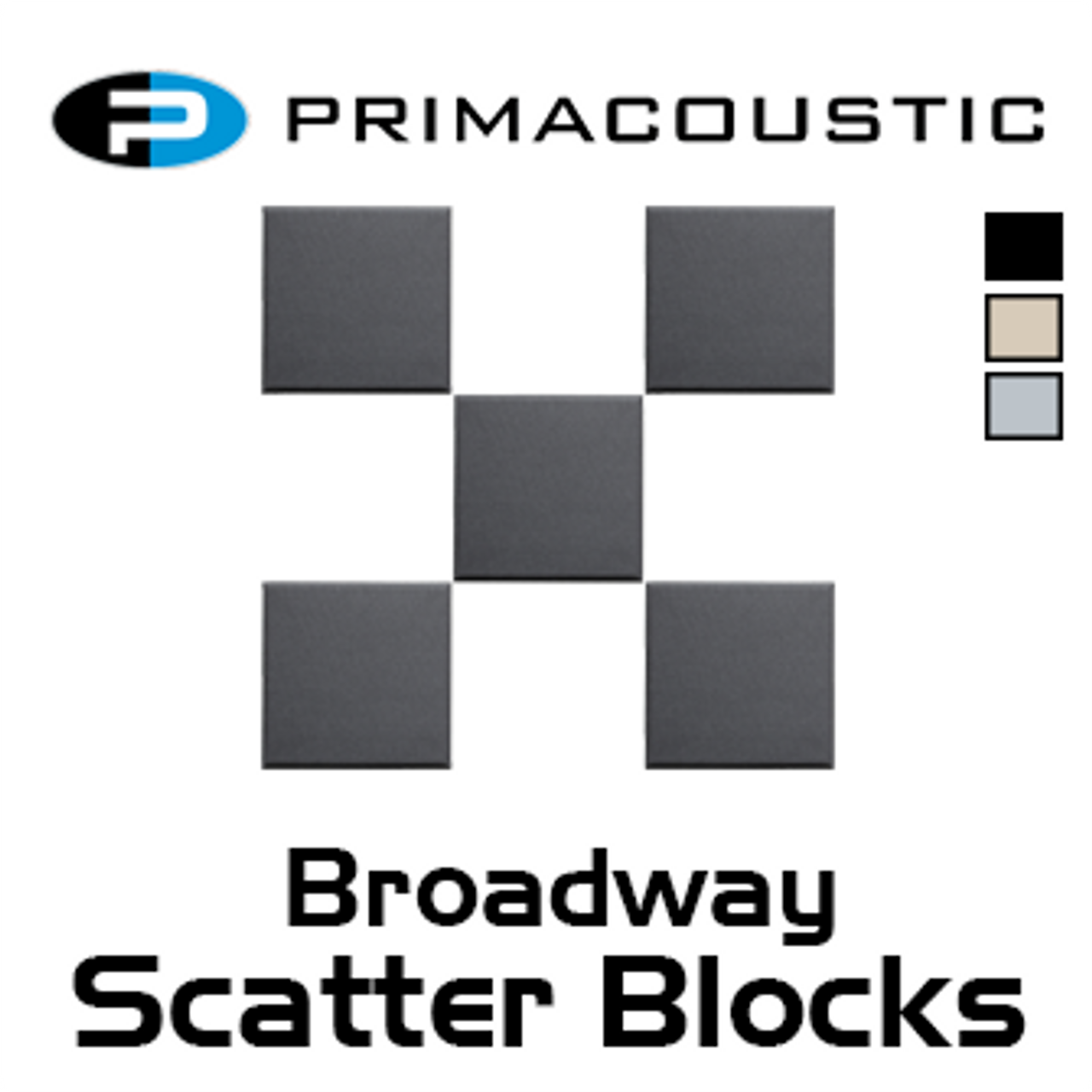 "Primacoustic Broadway Scatter Blocks 12"" x 12"" x 1"" Panels (24pc Set)"