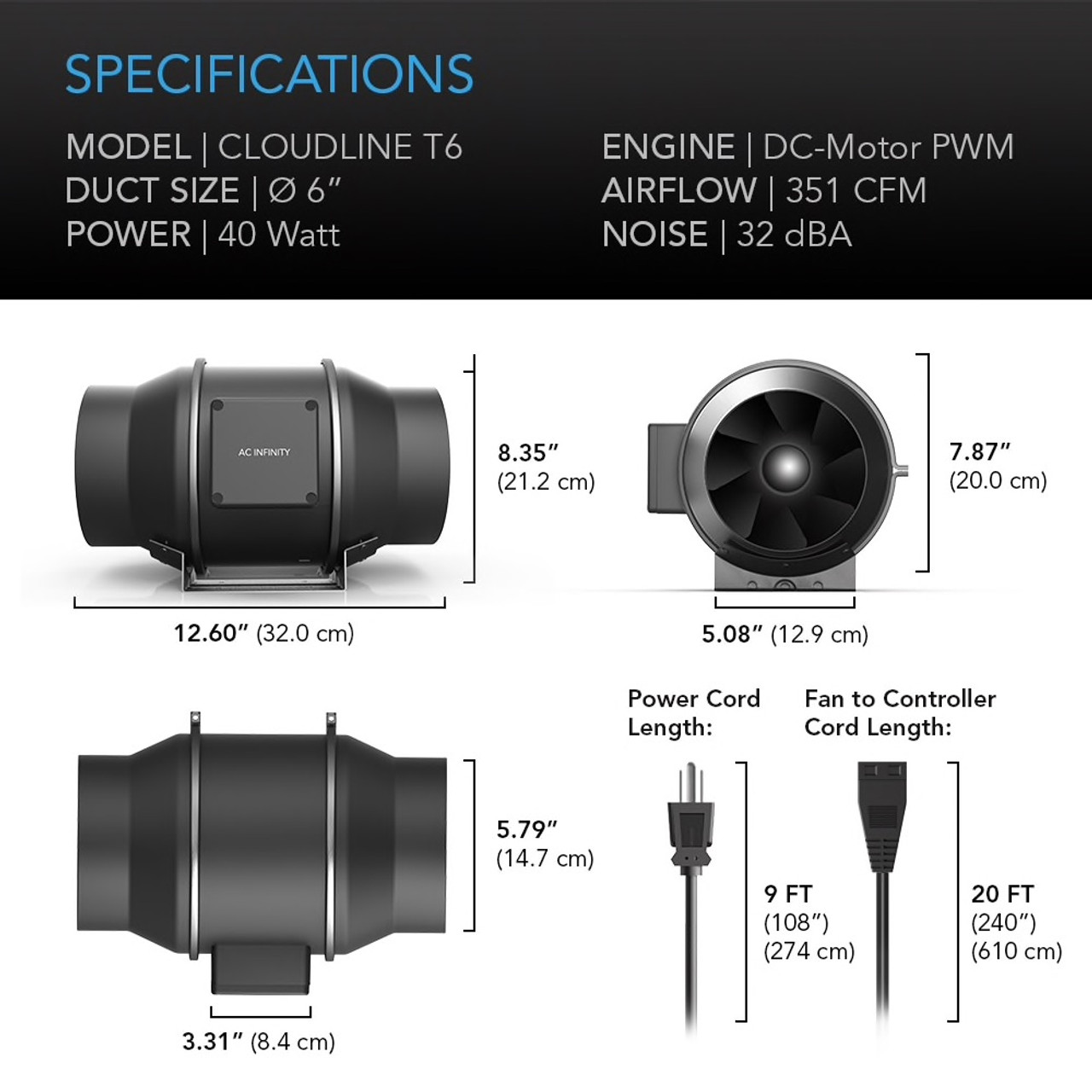 "6"" Duct Fan Specifications"