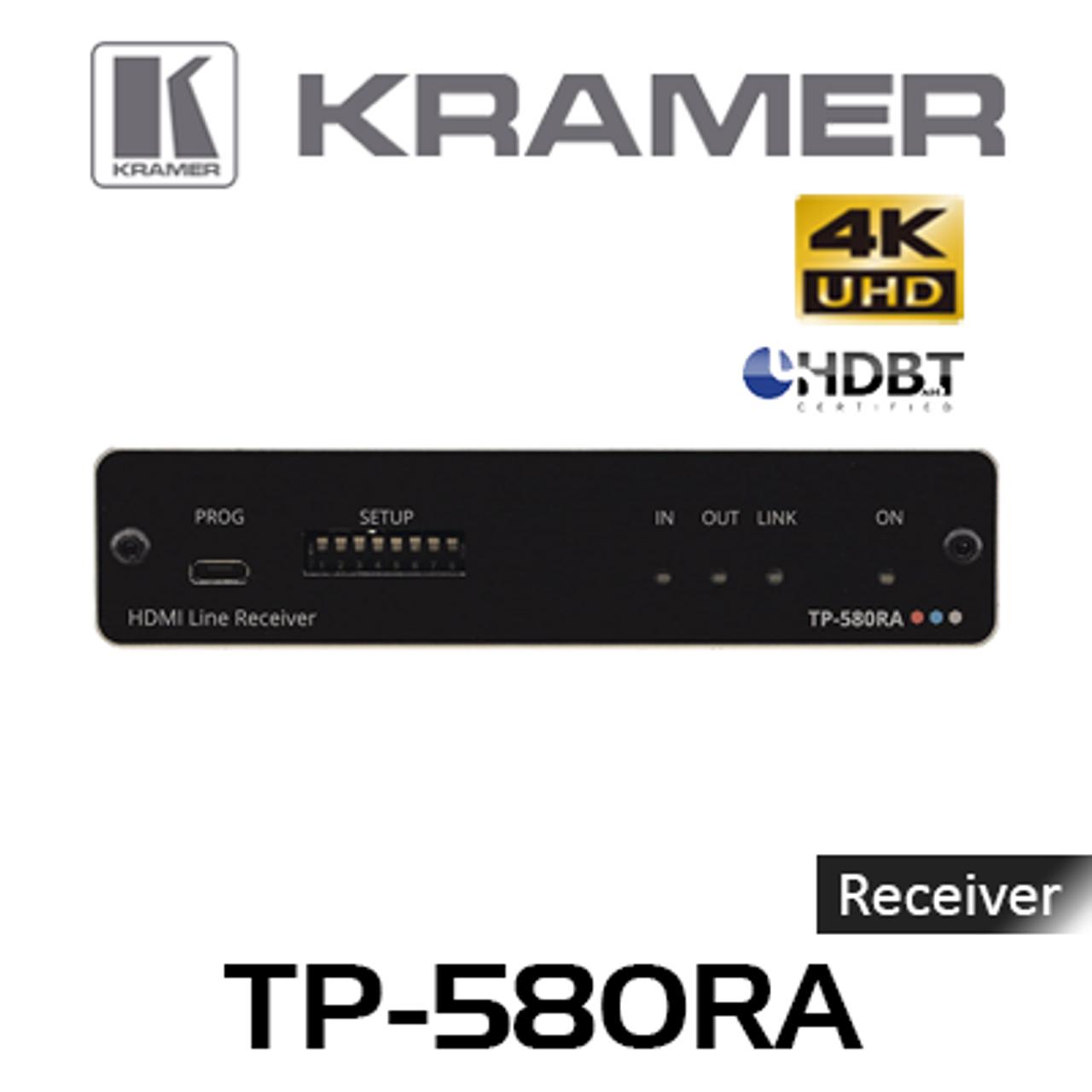 Kramer Tp 580ra 4k60 Hdmi To Hdbaset Receiver W Rs 232 Ir