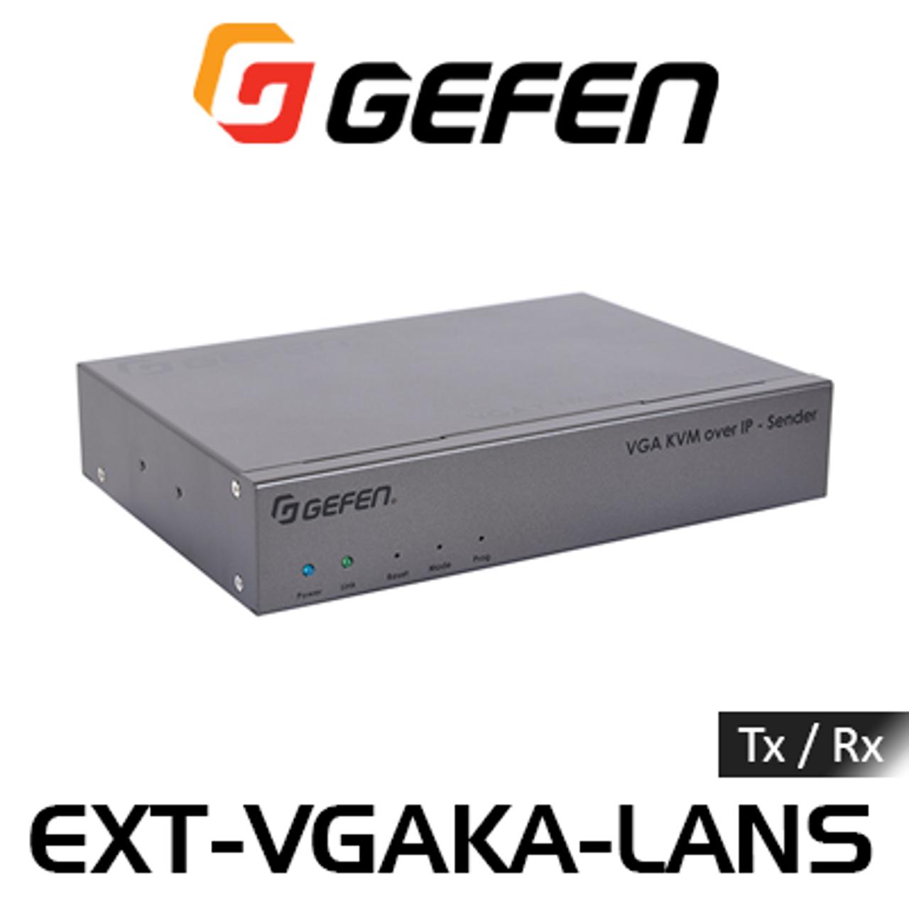 Gefen VGA KVM, USB, Analog Audio, IR & RS232 Over IP