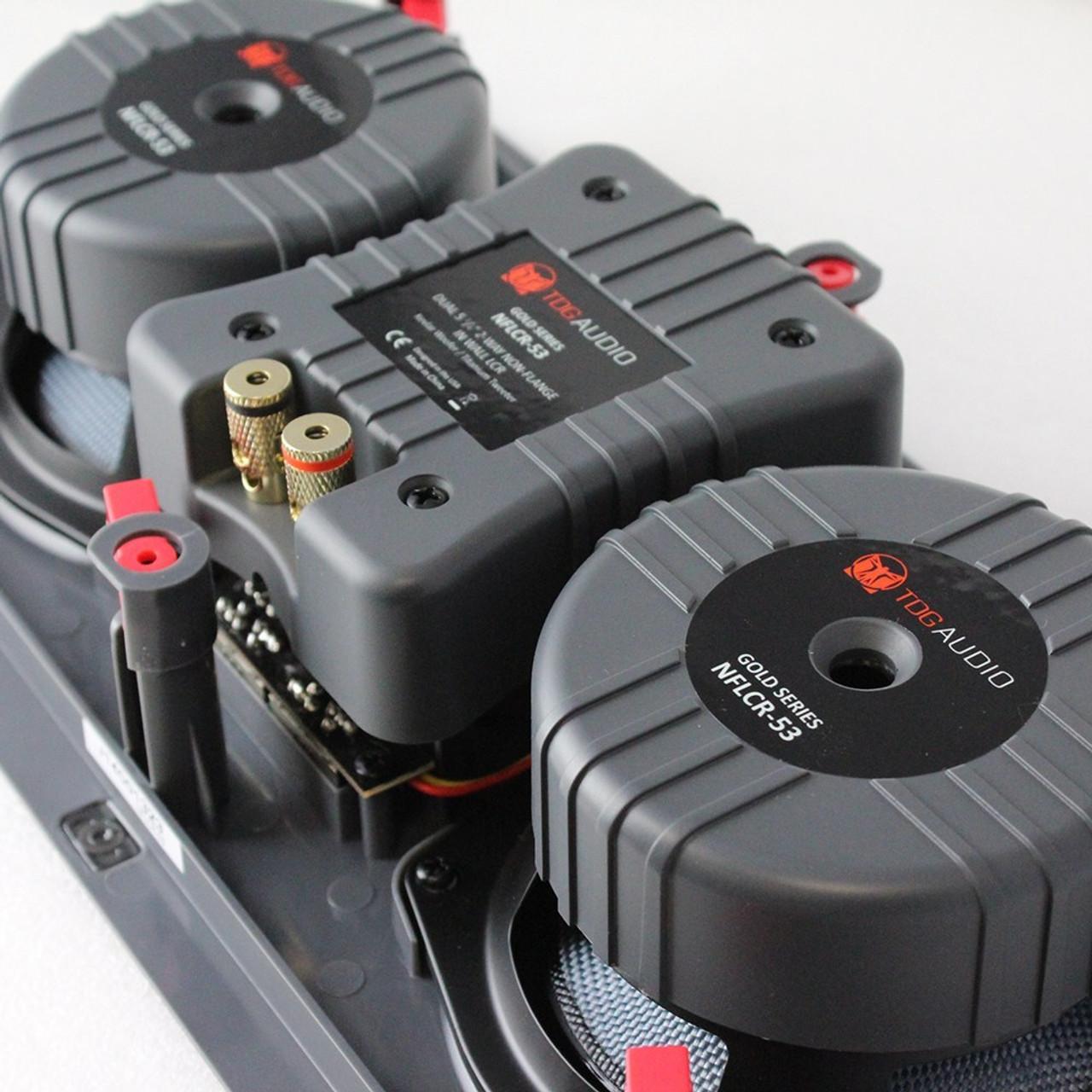 "TDG Audio NFLCR-53 Dual 5"" Kevlar In-Wall LCR Speaker (Each)"