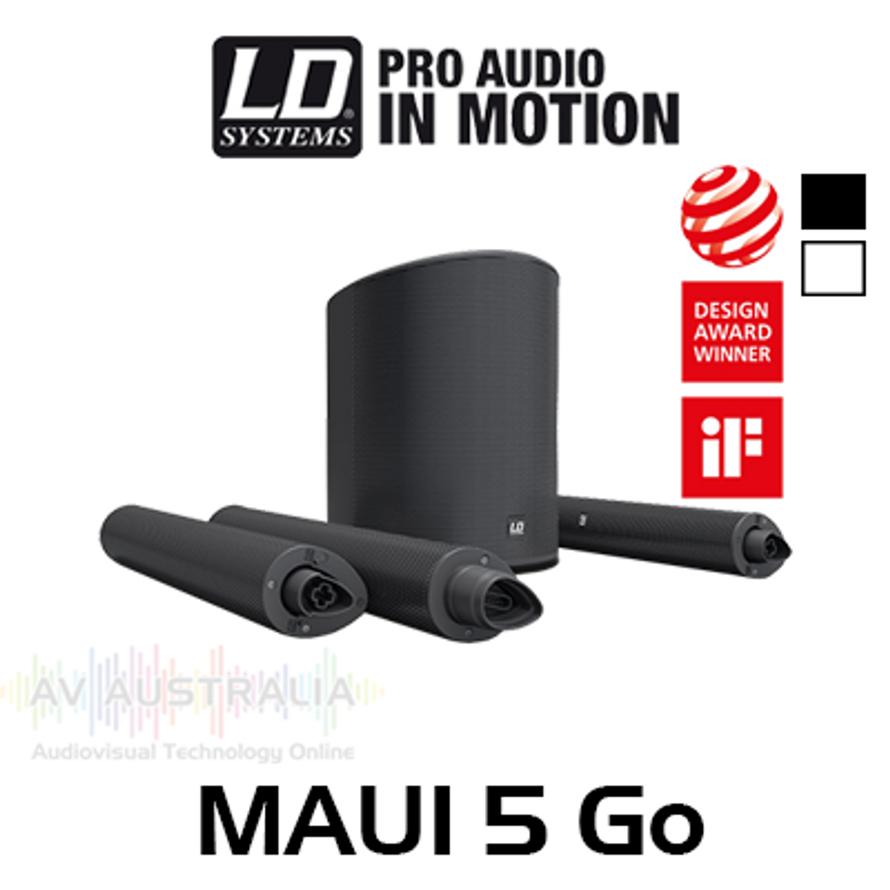 "LD Systems MAUI5 Go 8"" 800W Ultra Portable Battery-Powered Column PA System"
