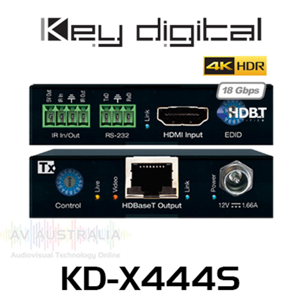Key Digital KD-X444S 4K/18G PoH HDBaseT HDMI Extender Kit (40m)