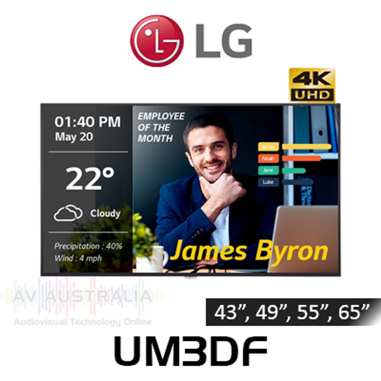 "LG UM3DF Series 4K 18/7 Narrow Bezel IPS Digital Signage (43""-65"")"