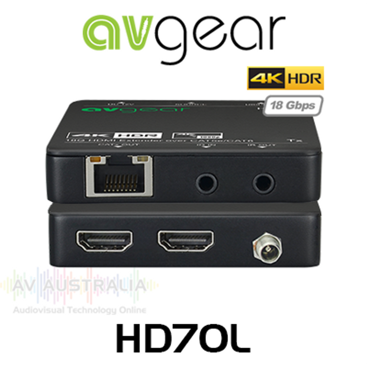 AVGear HD70L 4K HDR HDMI 2.0 Extender Set w/ Loop Out (up to 70M)