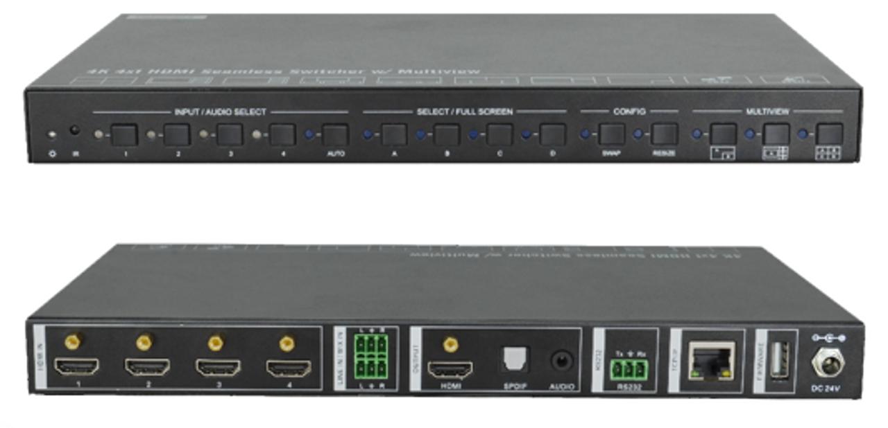 AVGear SCU41-MV 4x1 4K Seamless Switcher with Multi-View