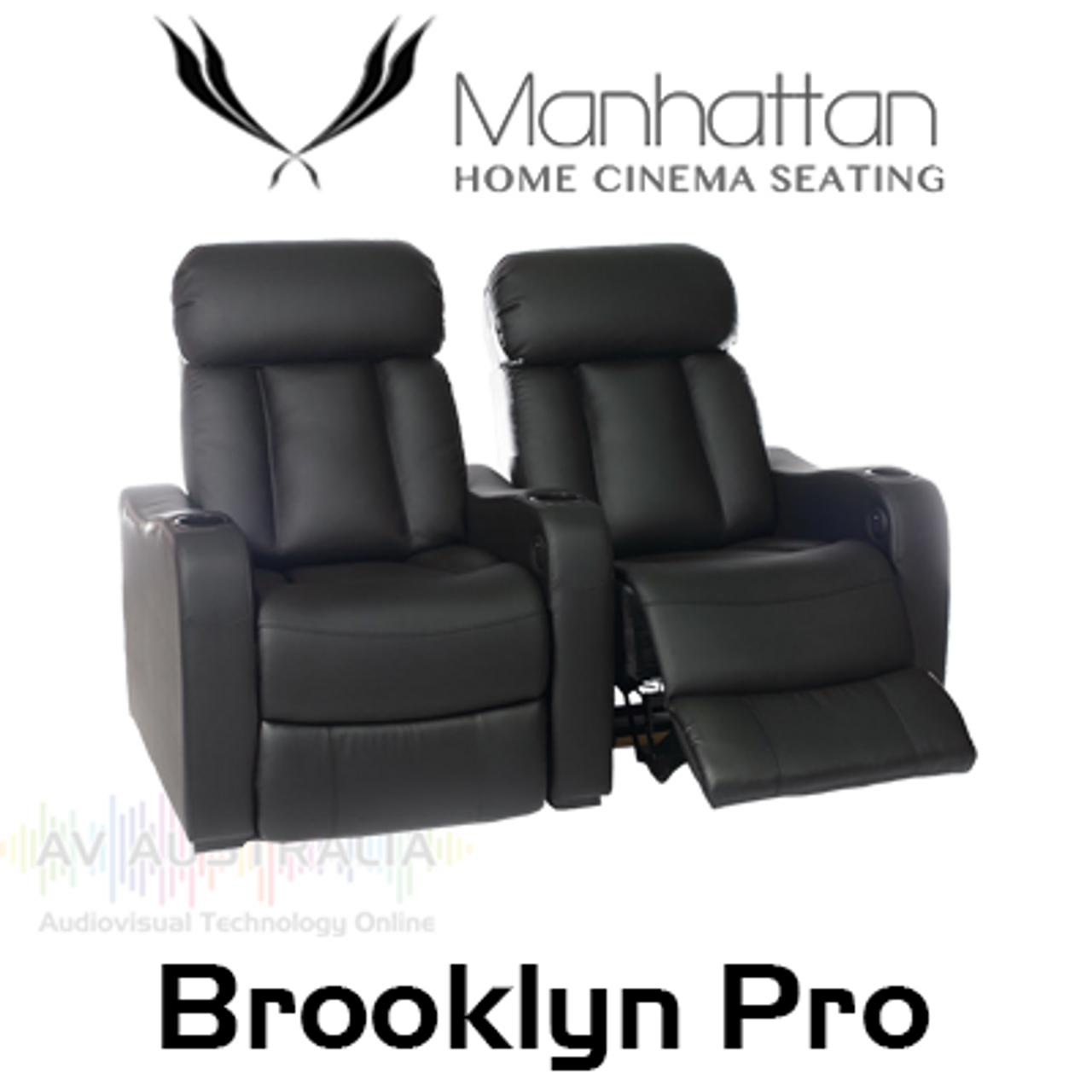 Manhattan Brooklyn Pro Leather / Suede Finish Cinema Seating