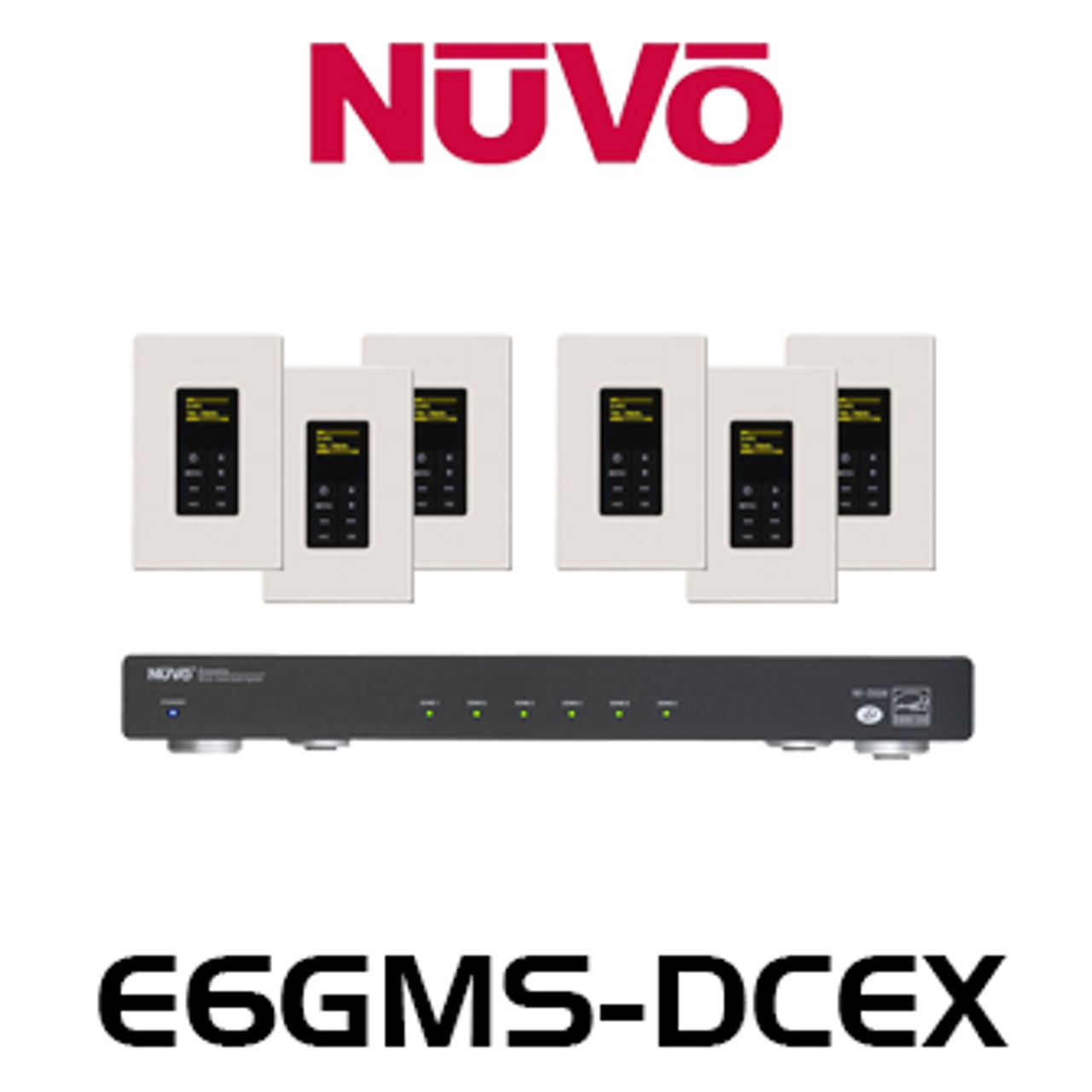 NuVo E6GM-DCEX 6 Source 6 Zones Essentia G Audio ... on