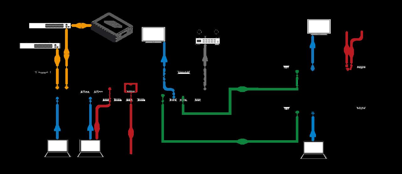 RTI VXP-82 8x2 4K All-In-One Control Processor & AV Presentation Switcher (100m)