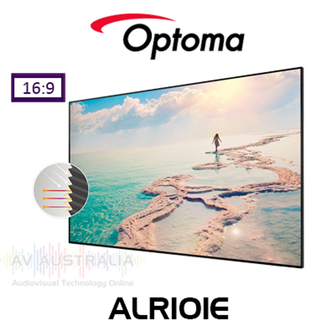 "Optoma ALR101E 100"" Ambient Light Rejection Screen for PRO UST Projector"