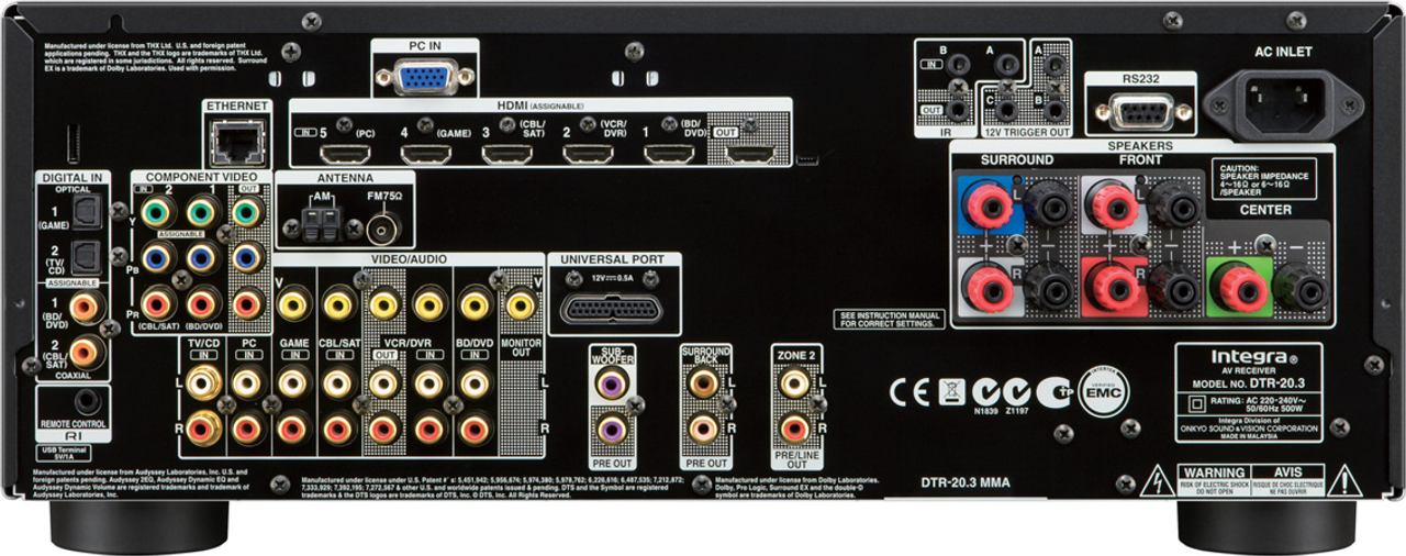 Integra DTR-20.3 5.2-Channel Network A/V Receiver
