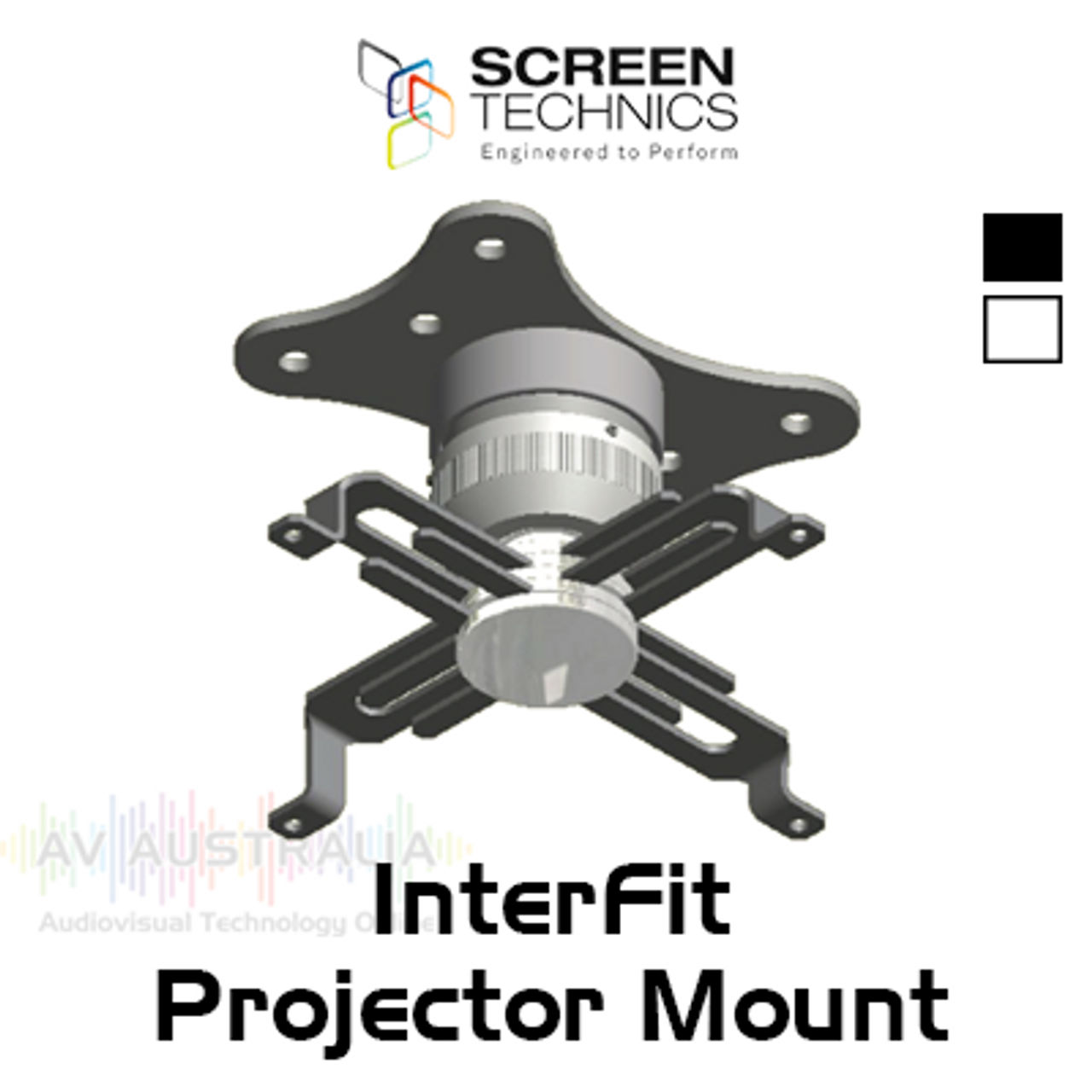 ST Interfit 120-2400mm Drop Spider Arm Ceiling Projector Mount (up to 35kg)