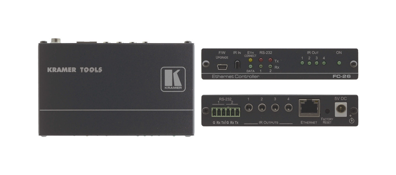 Kramer FC-26 6-Port Serial & IR, PoE Control Gateway