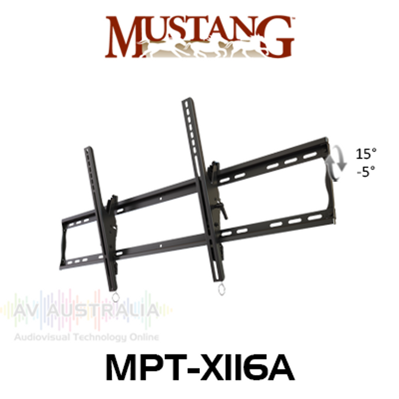 """Mustang Pro MPT-X116A Tilt Wall Mount For 46"""" - 90"""" Displays"""