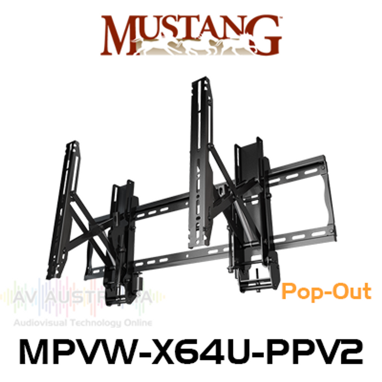 Mustang Pro MPVW-X64U-PPV2 Video Wall Mount For Displays Up To 600x400 VESA