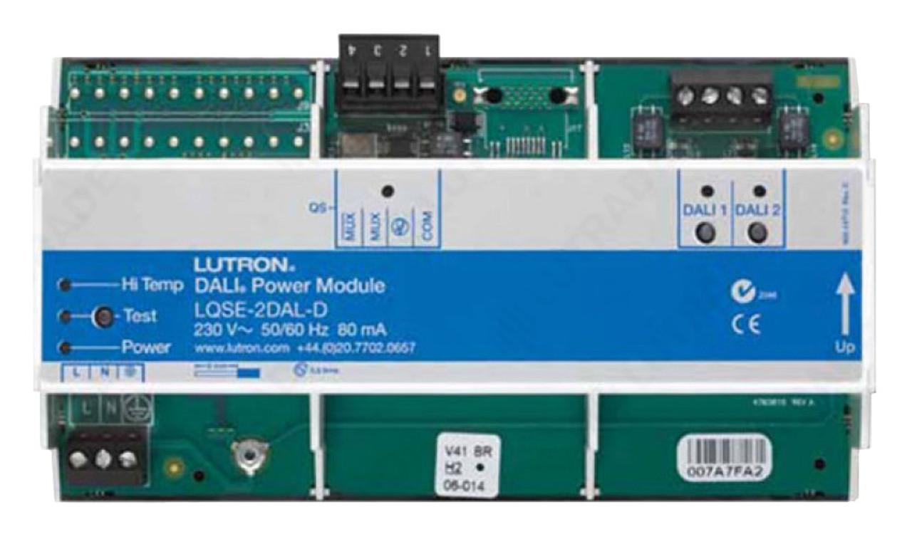 Lutron Dali 2 Loops DIN Power Module with 64 Ballasts Each