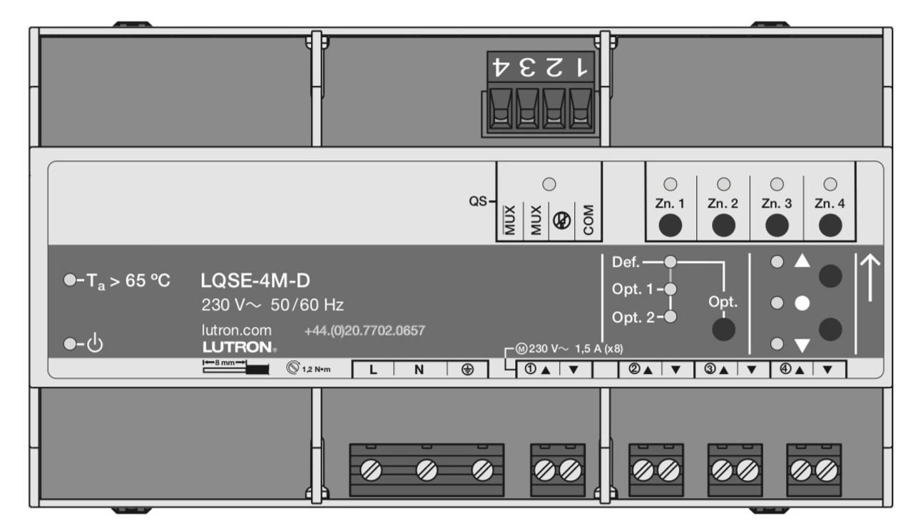 Lutron 4-Output AC Motor Control DIN Power Module