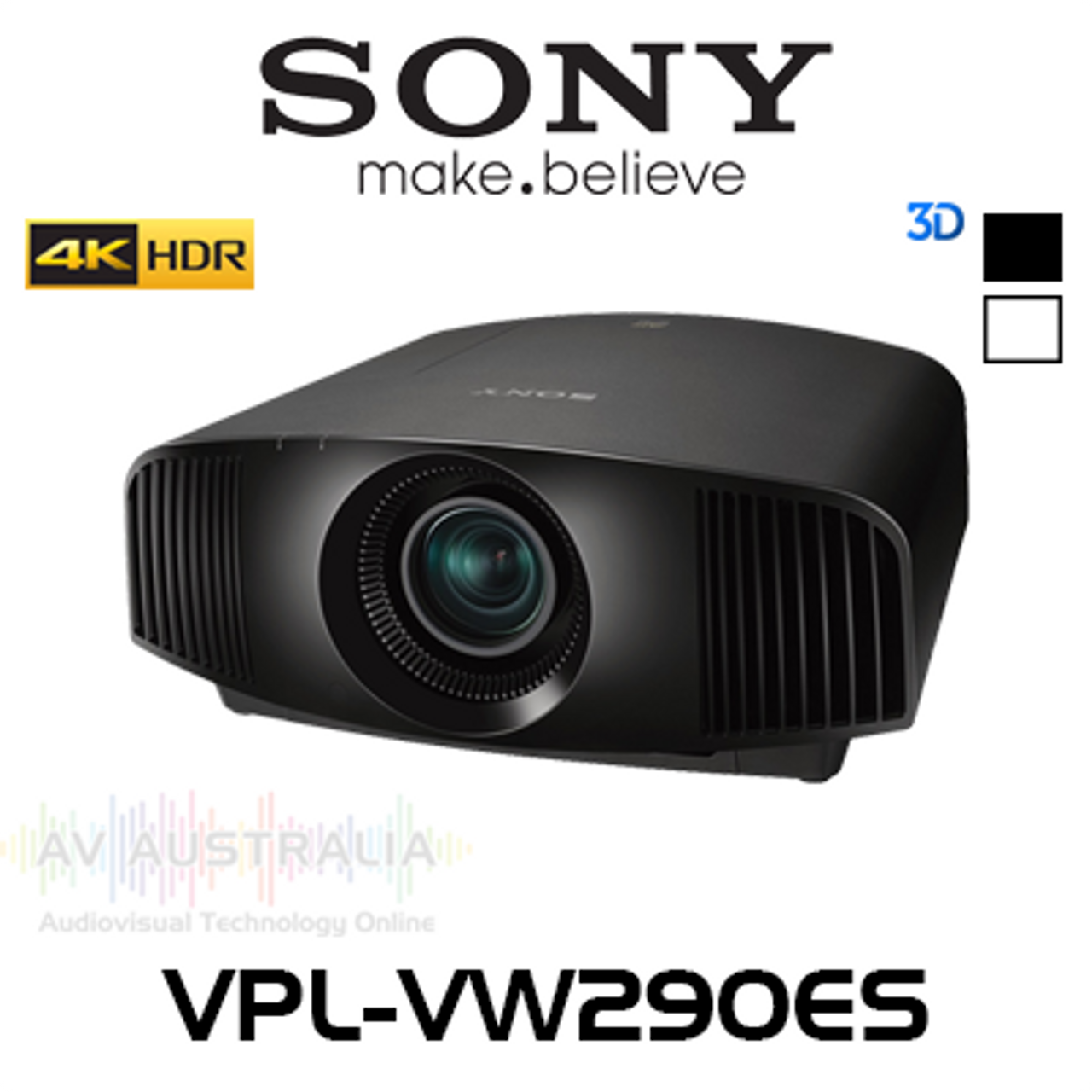 Sony VPL-VW290ES 4K HDR 1500 Lumens SXRD 3D Home Cinema Projector