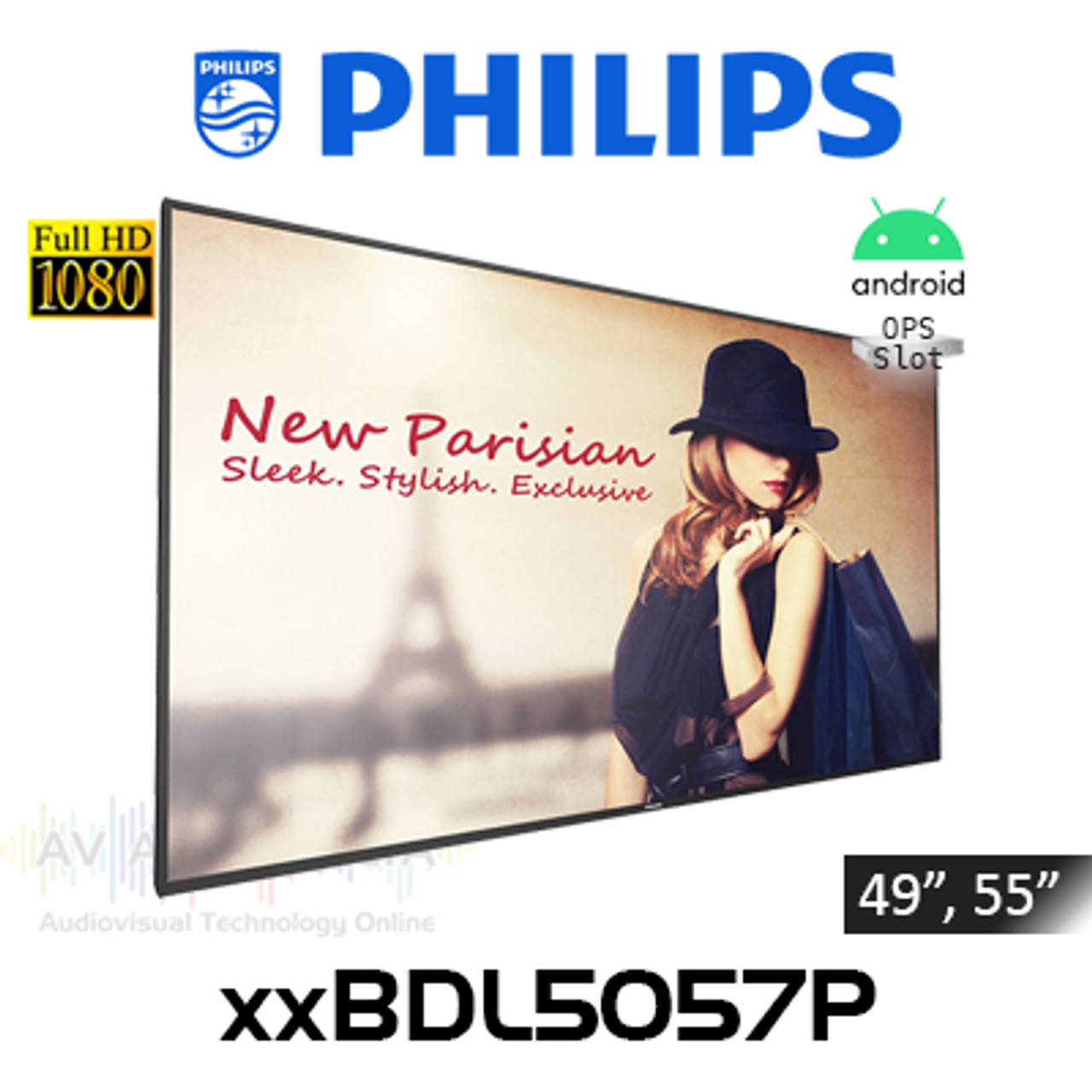"""Philips P-Line Full HD 700 Nits Android Digital Signage (49"""", 55"""")"""