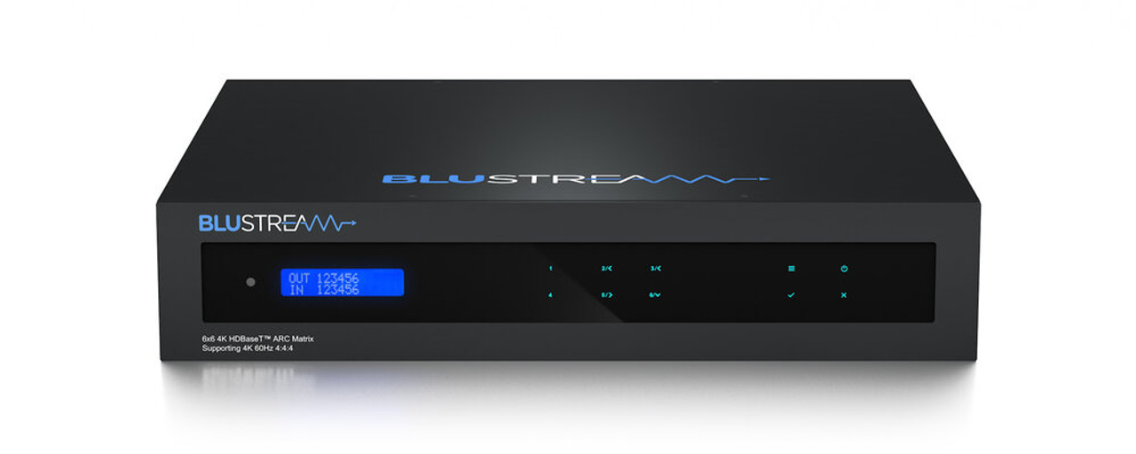 BluStream Essential HMXL66ARC 6x6 4K UHD HDBaseT CSC ARC Matrix (40m)