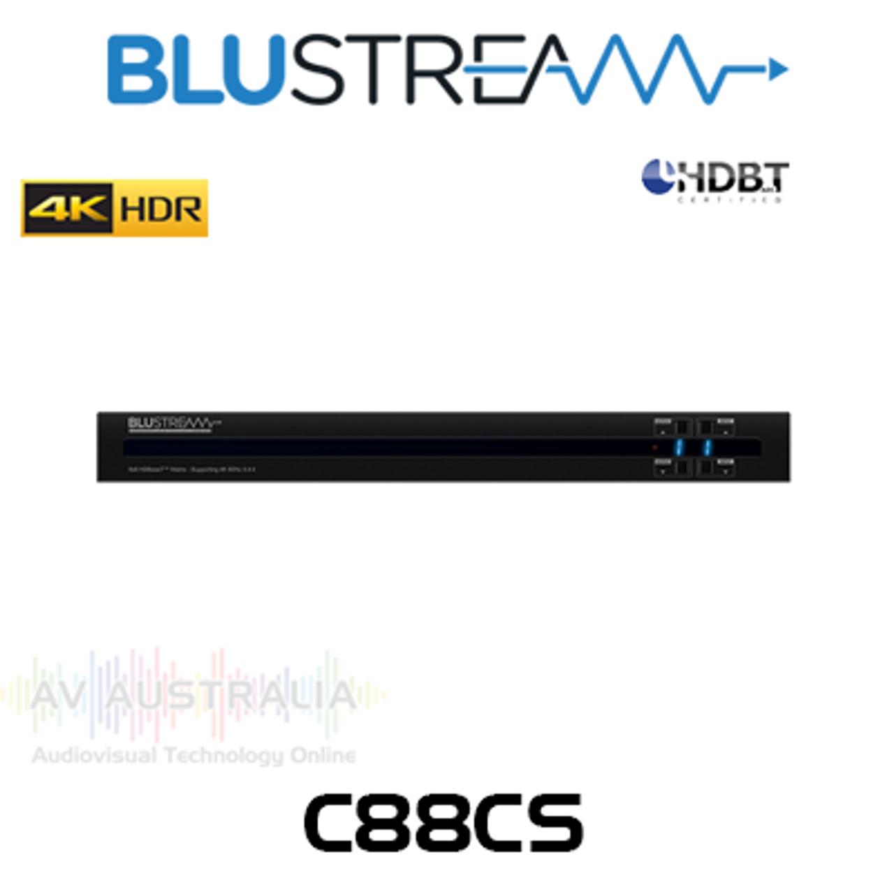 BluStream Contractor 8x8 4K HDR HDBaseT CSC Matrix Switcher (40m)