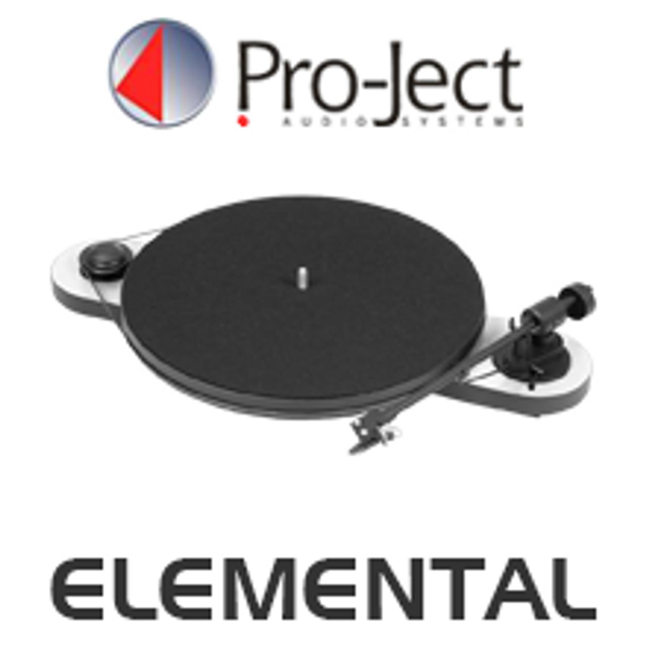Pro-Ject Elemental Manual Turntable inc. Ortofon OM 5E