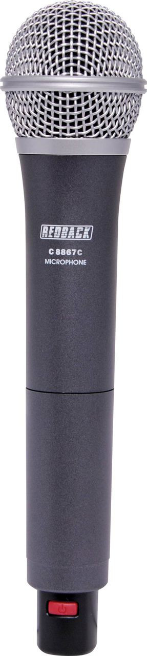redback uhf wireless microphone system with handheld mic 16 channel. Black Bedroom Furniture Sets. Home Design Ideas