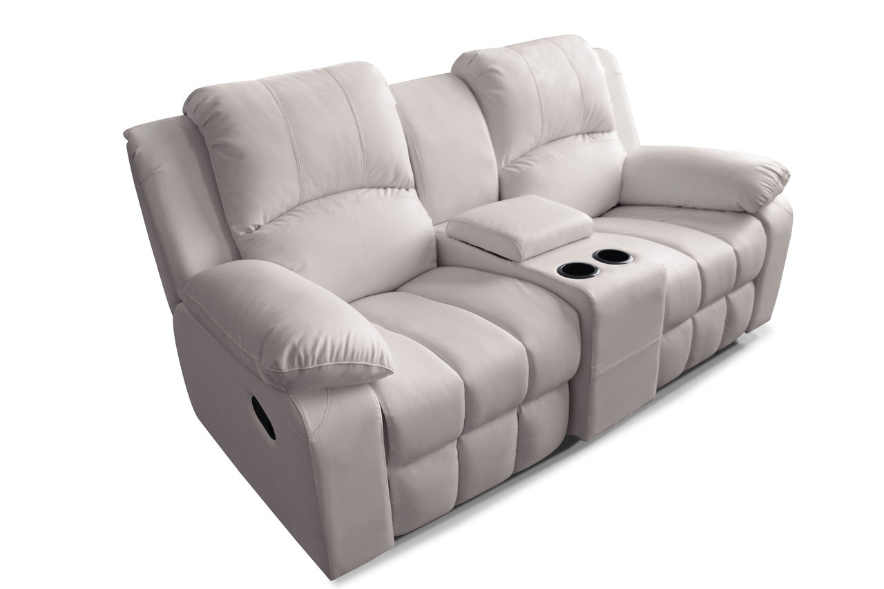 Manhattan Comfort Leather / Suede Finish Cinema Seating
