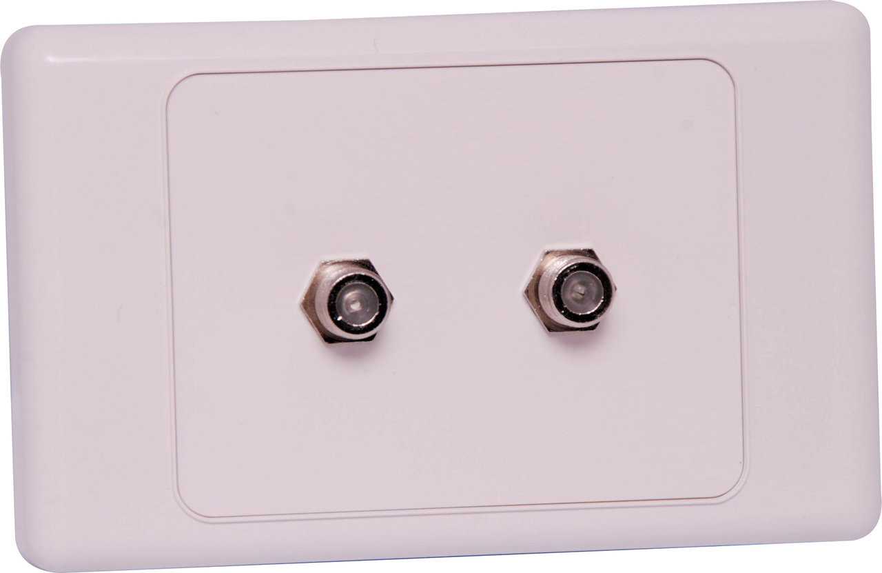 Dynalink F Type Antenna Wallplate - Single / Dual Outlet