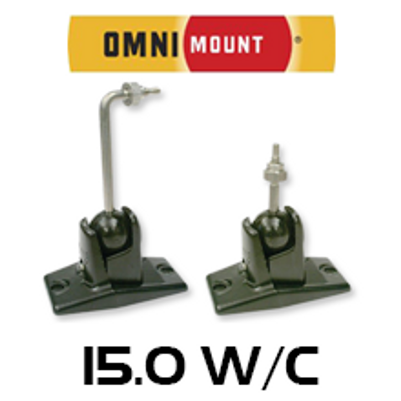 OmniMount 150 W C Bookshelf Speaker Mount Bracket Each