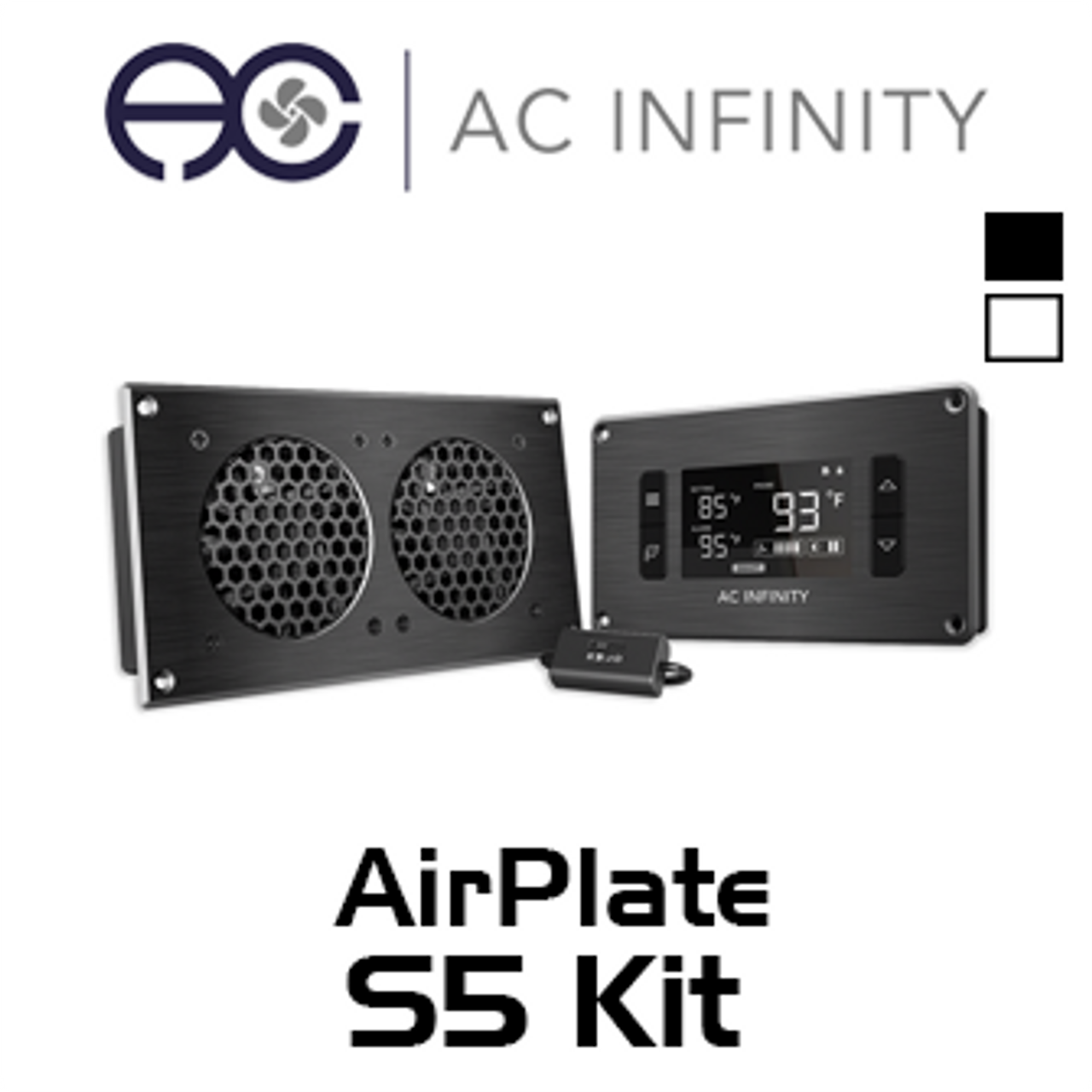 AC Infinity AP5TBKit Dual 80mm Airplate T5 AV Cabinet Cooling Fan Kit