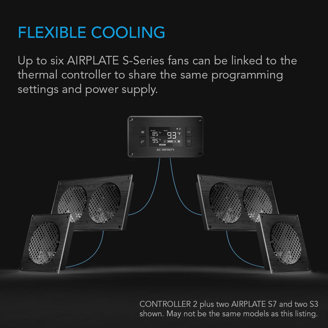 Infinity AP9TBKit Trio 120mm Airplate S9 AV Cabinet Cooling Fan Kit